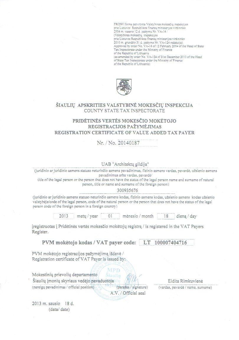 PVMregistracija