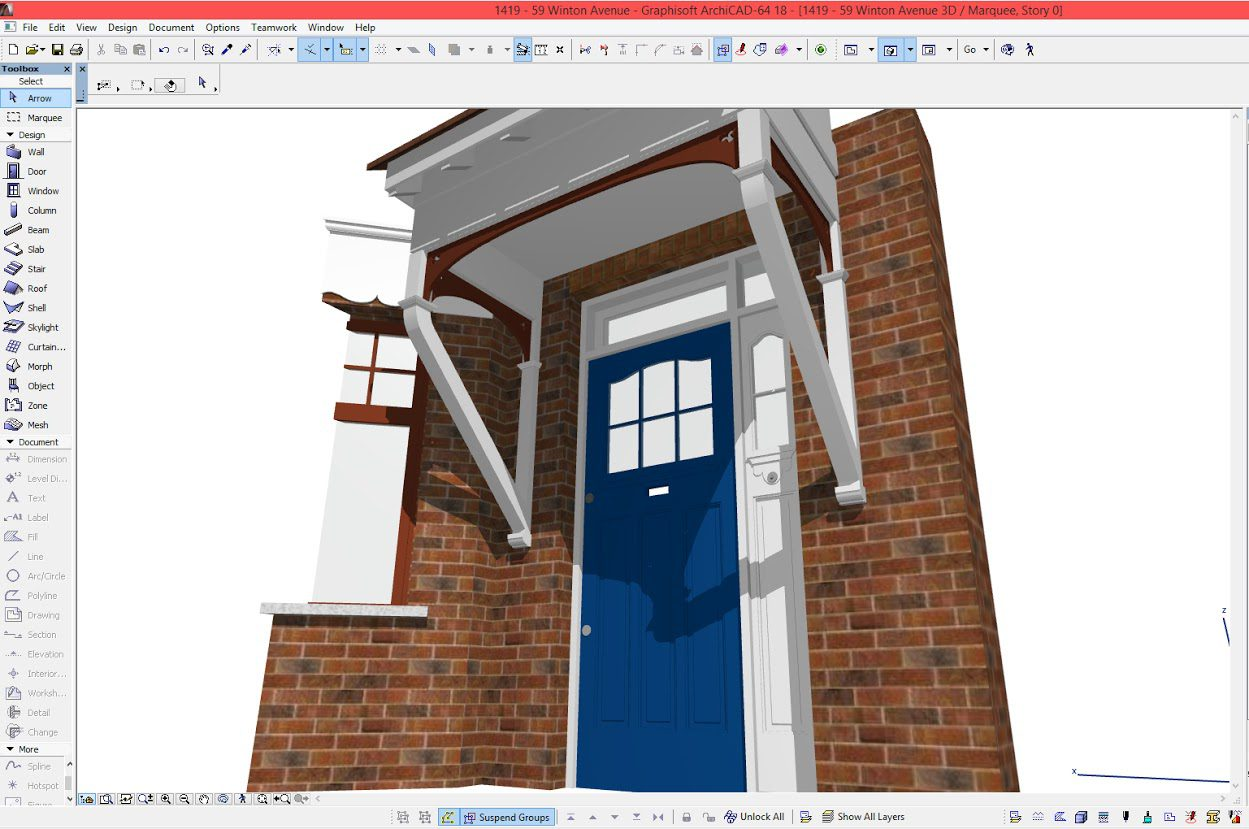 Architectural BIM detail model UK