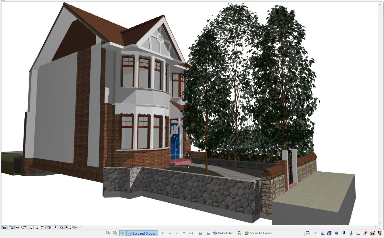 BIM modeling of a building UK