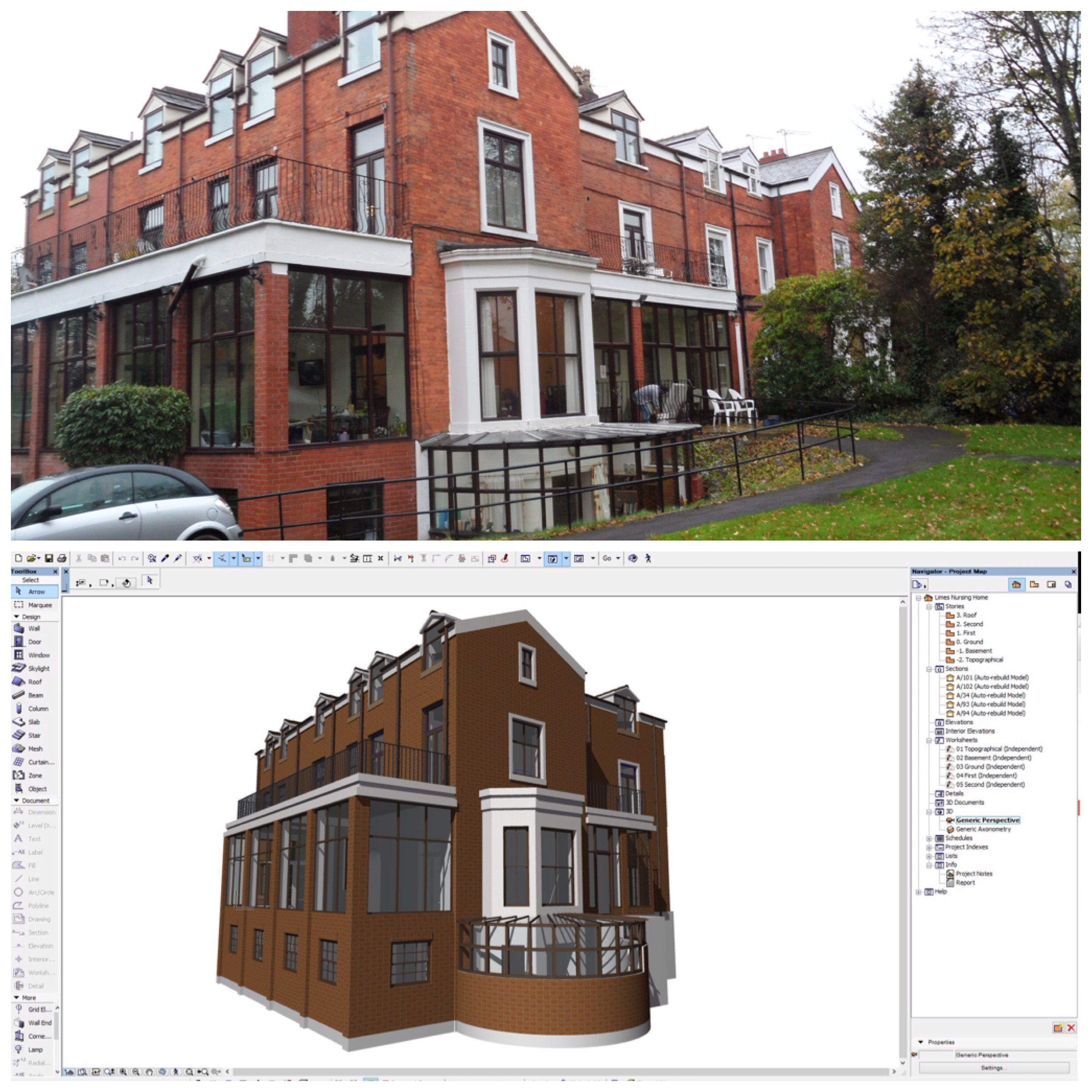 Archicad BIM model from survey data by ArchicadTeam.com